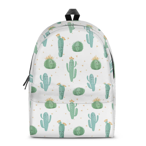 Cactus Backpack All Over Print Cotton Backpack