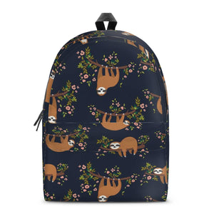 SLOTH02 All Over Print Cotton Backpack