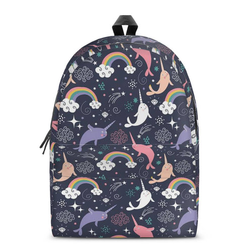 NARWHAL02 All Over Print Cotton Backpack