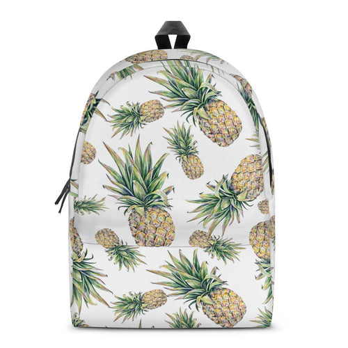 Pineapple All Over Print Cotton Backpack
