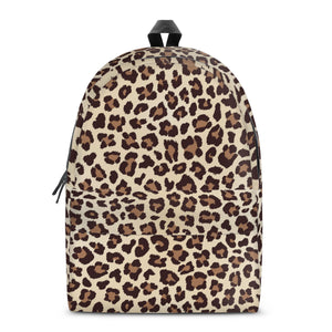 Leopard All Over Print Cotton Backpack