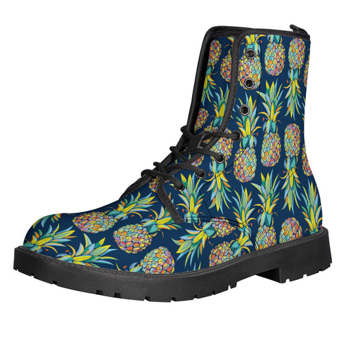 Pineapple Leather Boots