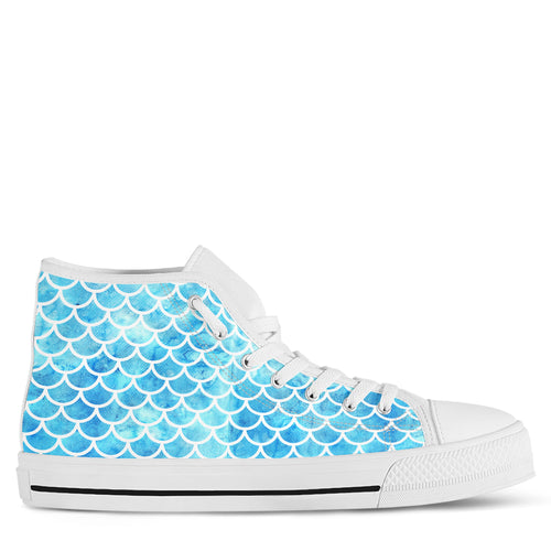 Mermaid Women's High Top Sneakers
