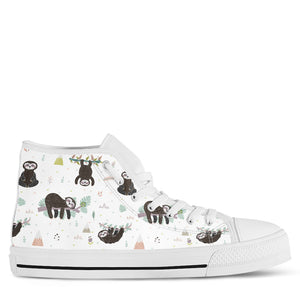 Sloth Women's High Top Sneakers