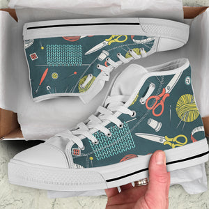 Crochet Lover Women's High Top Sneakers