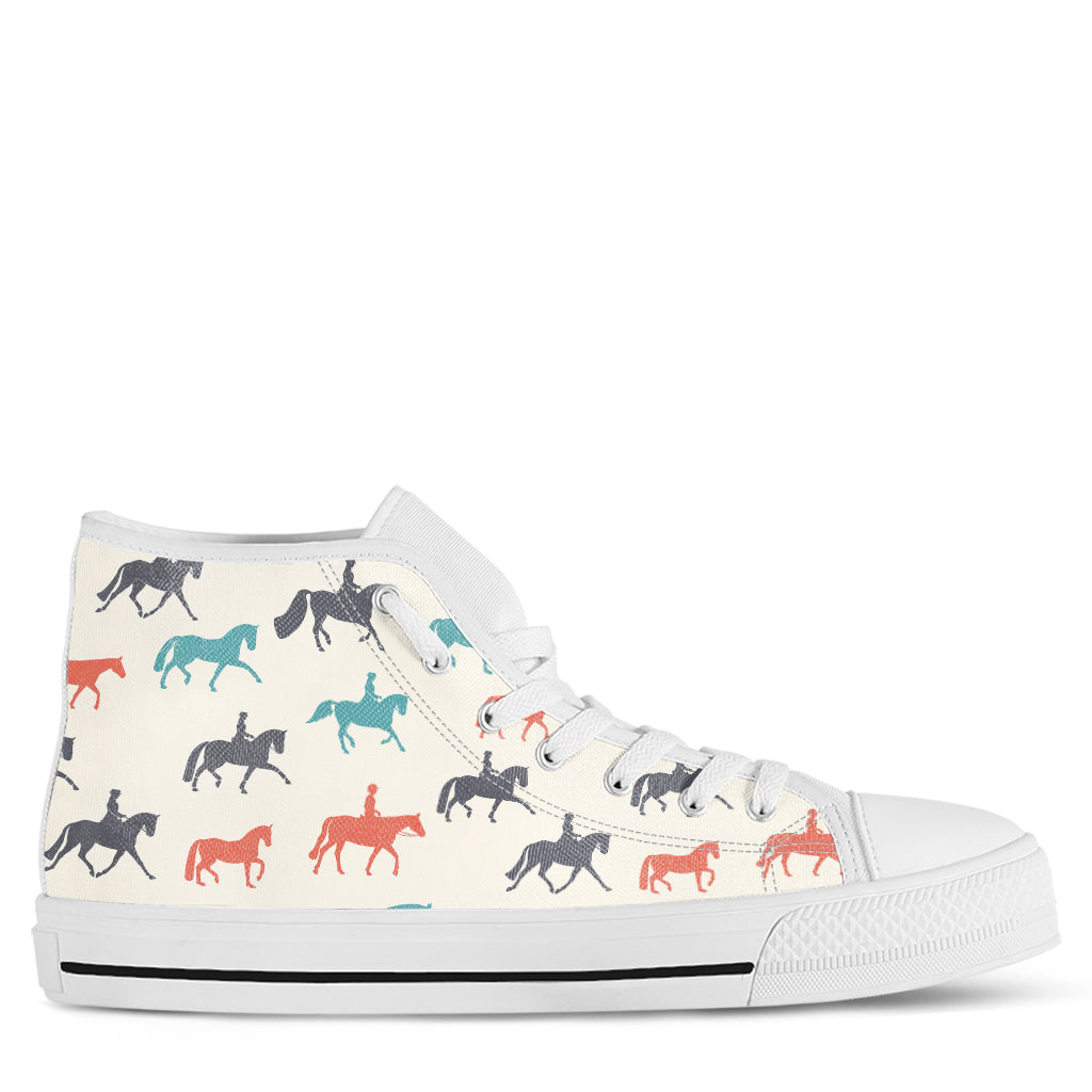 Horse Women's High Top Sneakers