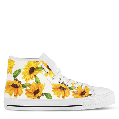 Sunflower Women's High Top Sneakers