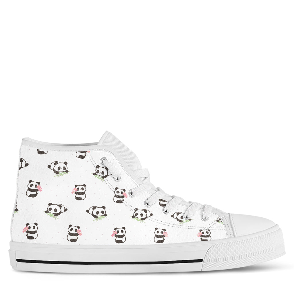 Panda Women's High Top Sneakers
