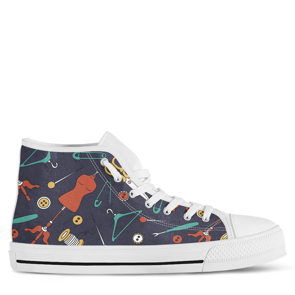 Sewing Lover Women's High Top Sneakers
