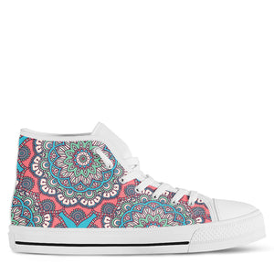 Mandala Women's High Top Sneakers