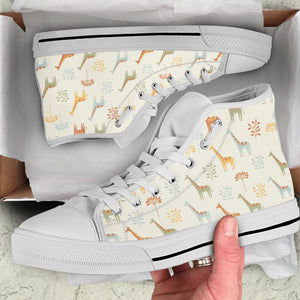 Giraffe Women's High Top Sneakers