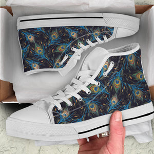 Peacock Women's High Top Sneakers