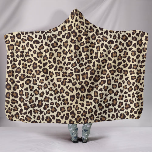 Leopard Hooded Blanket