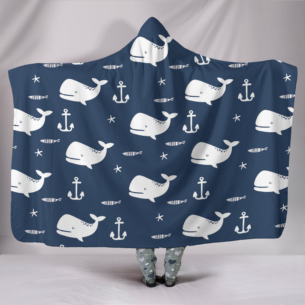 Whale Hooded Blanket
