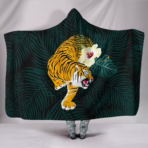 Tiger Hooded Blanket