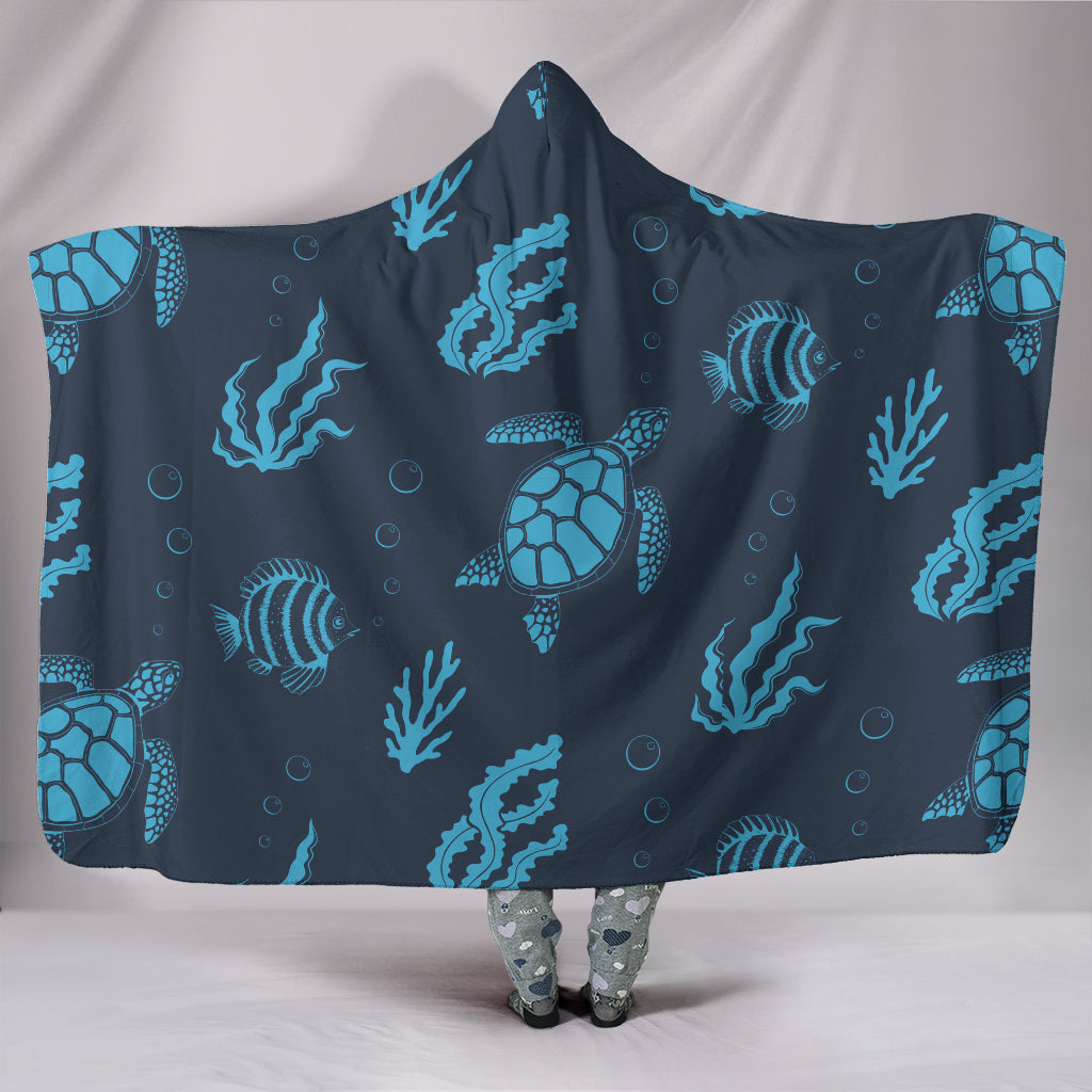 Turtle Hooded Blanket