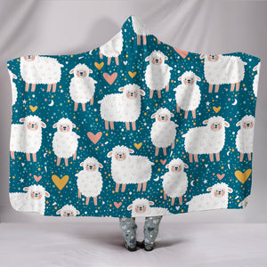 Sheep Hooded Blanket