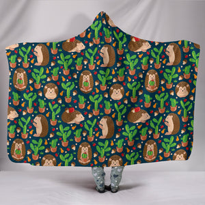 Hedgehog Hooded Blanket