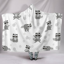 Raccoon Hooded Blanket