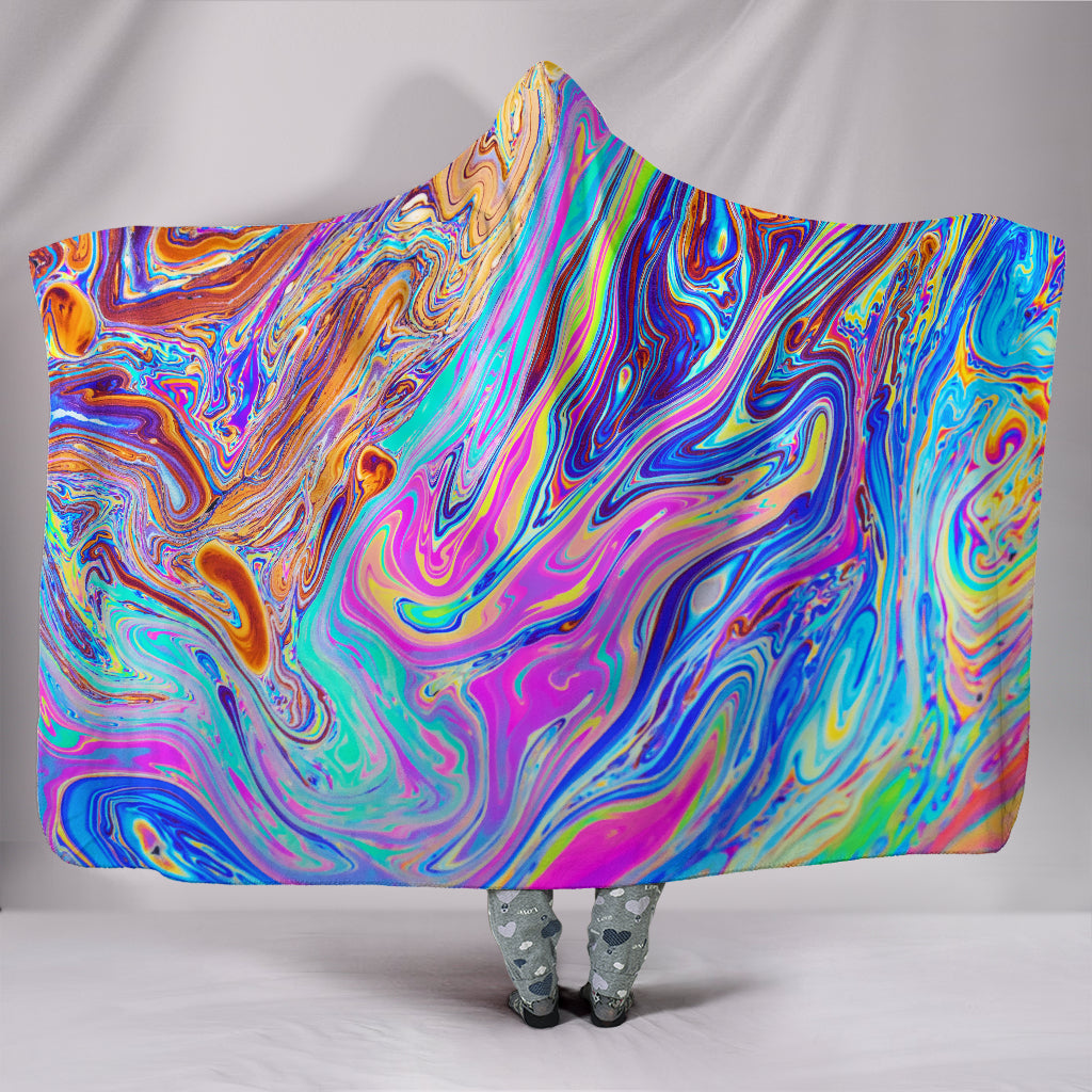 Psychedelic Hooded Blanket