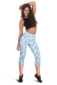 Sheep Capri Leggings