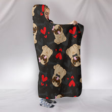 Pug Hooded Blanket