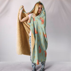 Fox Hooded Blanket