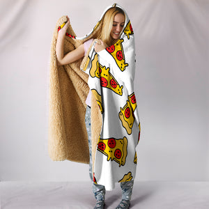 Pizza Hooded Blanket