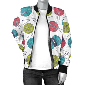Crochet Lover Women's Bomber Jacket