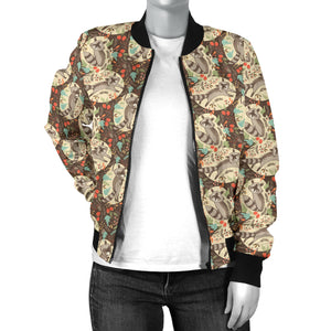 Raccoon Women's Bomber Jacket