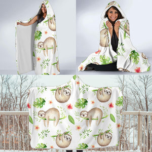 Sloth Hooded Blanket