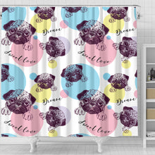 Pug Shower Curtain