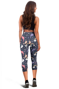 Narwhal Capri Leggings