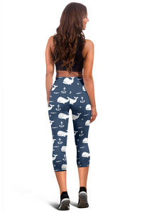Whale Capri Leggings