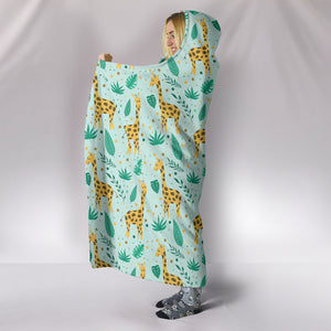 Giraffe Hooded Blanket