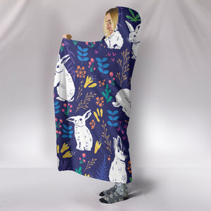 Rabbit Hooded Blanket