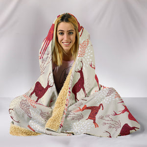 Deer Hooded Blanket
