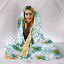 Peacock Hooded Blanket