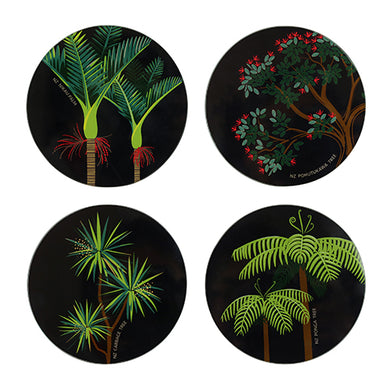 Glass Coaster Set - Evergreen NZ Mixed