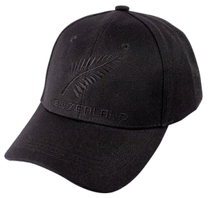 Cap All Black Fern