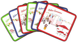 Coaster Set Retro Caravans