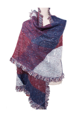 Shawl Diamond Shape Purple