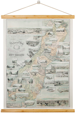 Scroll South Island Map