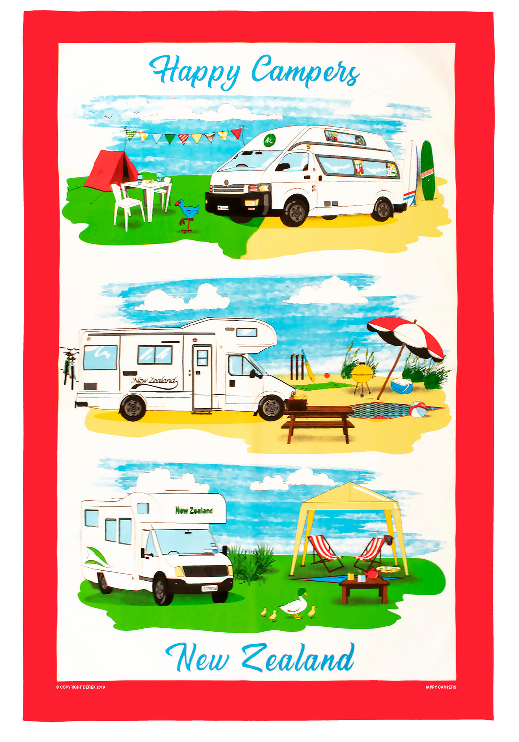 Teatowel Happy Campers