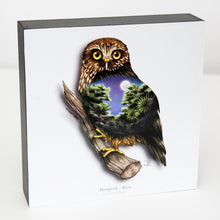 Load image into Gallery viewer, Art printed block - Morepork