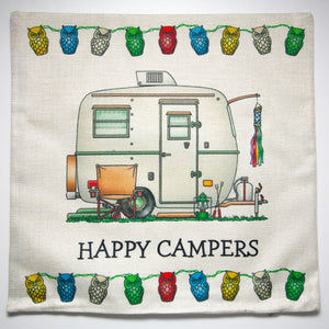 Cushion Cover Caravan Happy Campers - design 2