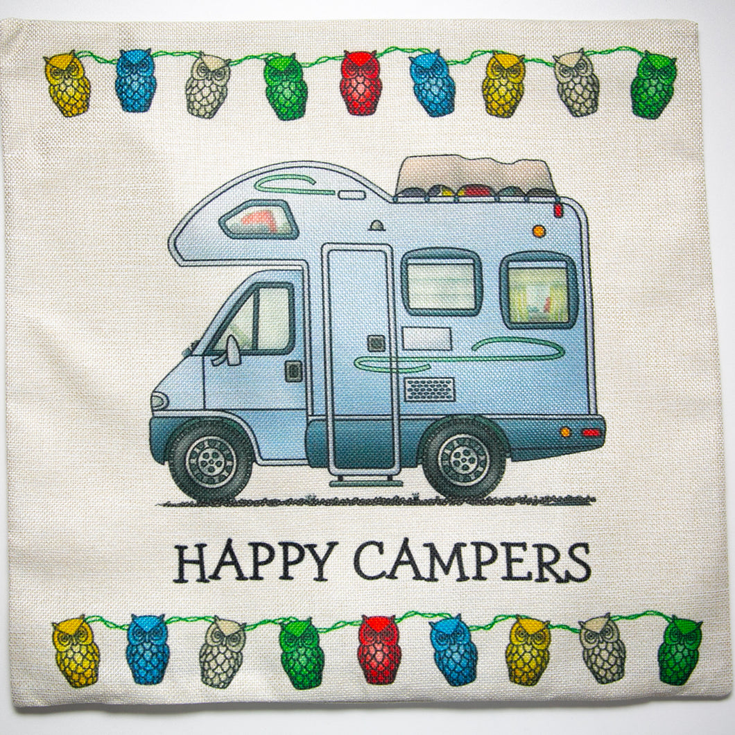 Cushion Cover Camper Van Happy Campers - design 1