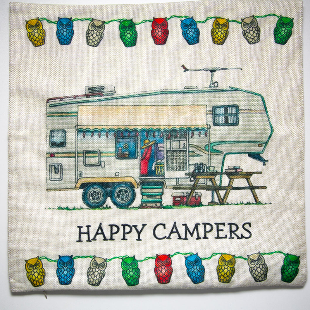Cushion Cover Trailer Happy Campers