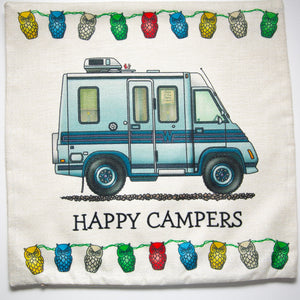 Cushion Cover Camper Van Happy Campers - design 2