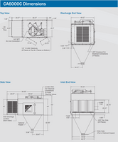 Trion AirBoss CA6000C manual dimensions drawing